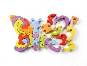Puzzle letras mariposa  Begin Again