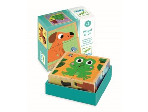 Puzzle cubos Wouaf & Co  Djeco