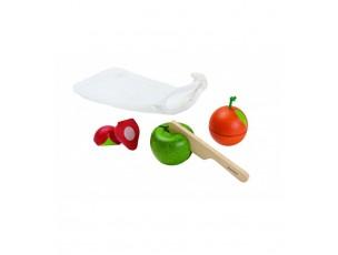 Mini set frutas y verduras para cortar  Plantoys