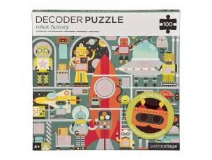 Puzzle Decoder robots  Petit Collage