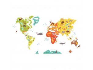 Mapa Mundo  Petit Collage