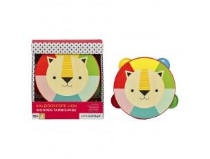 Pandeireta león-Petit Collage