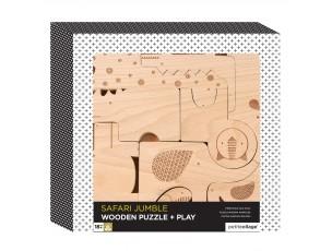 Puzzle de madera Safari  Petit Collage