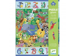 Puzzle 1 a 10 jungla  Djeco